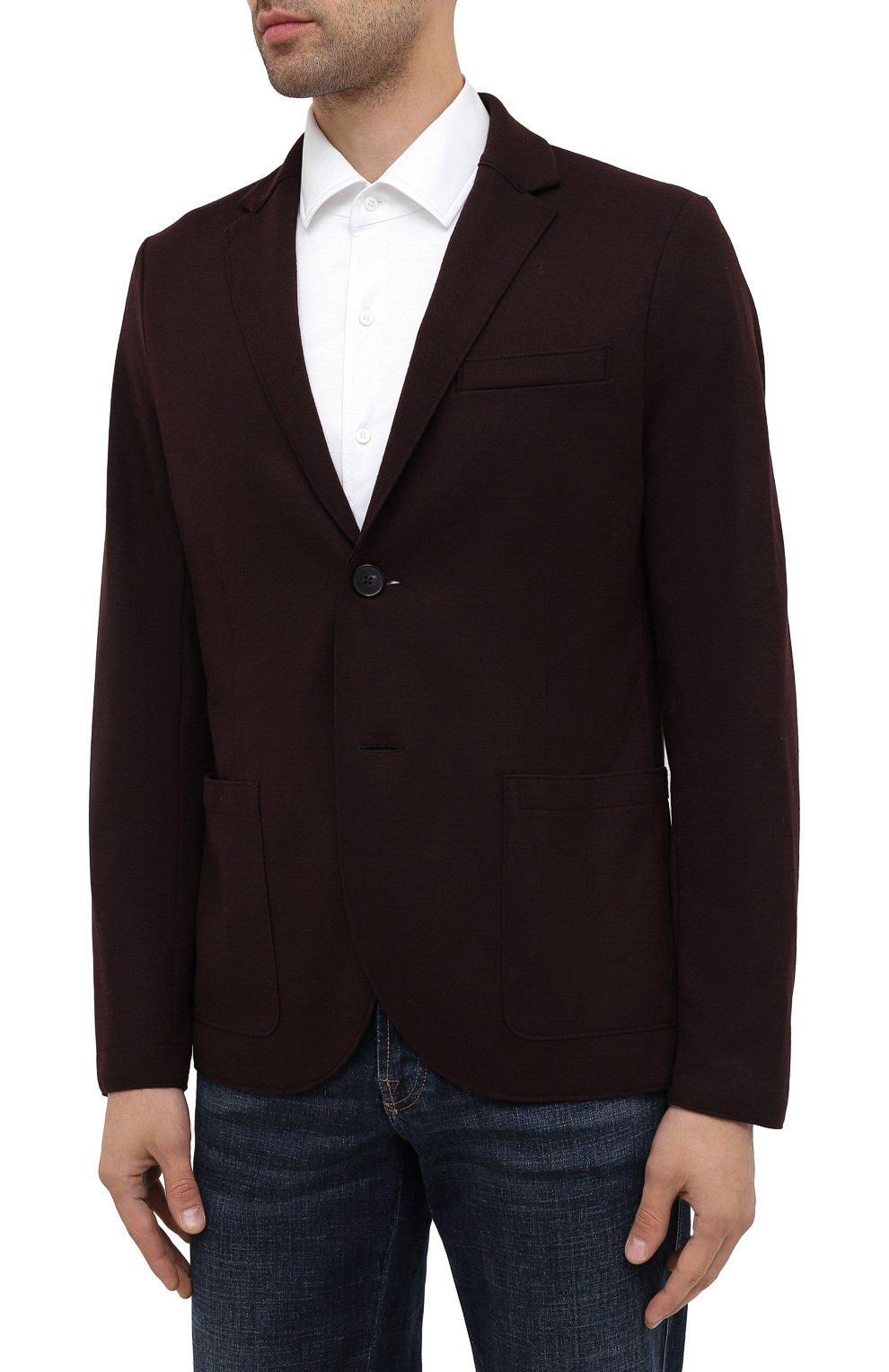 Мужской шерстяной пиджак HARRIS WHARF LONDON бордового цвета, арт. C7G27MYM | Фото 3