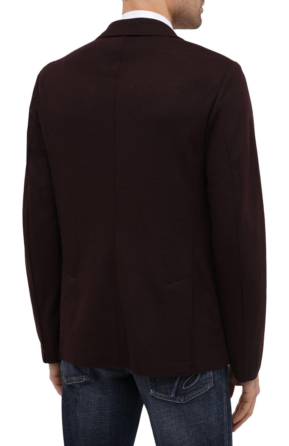 Мужской шерстяной пиджак HARRIS WHARF LONDON бордового цвета, арт. C7G27MYM | Фото 4