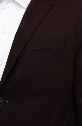 Мужской шерстяной пиджак HARRIS WHARF LONDON бордового цвета, арт. C7G27MYM | Фото 5