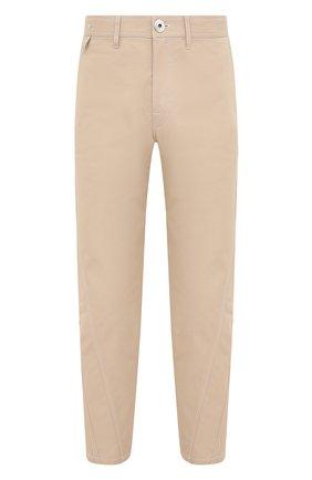 Мужские хлопковые брюки LANVIN бежевого цвета, арт. RM-TR0061-4468-A20 | Фото 1