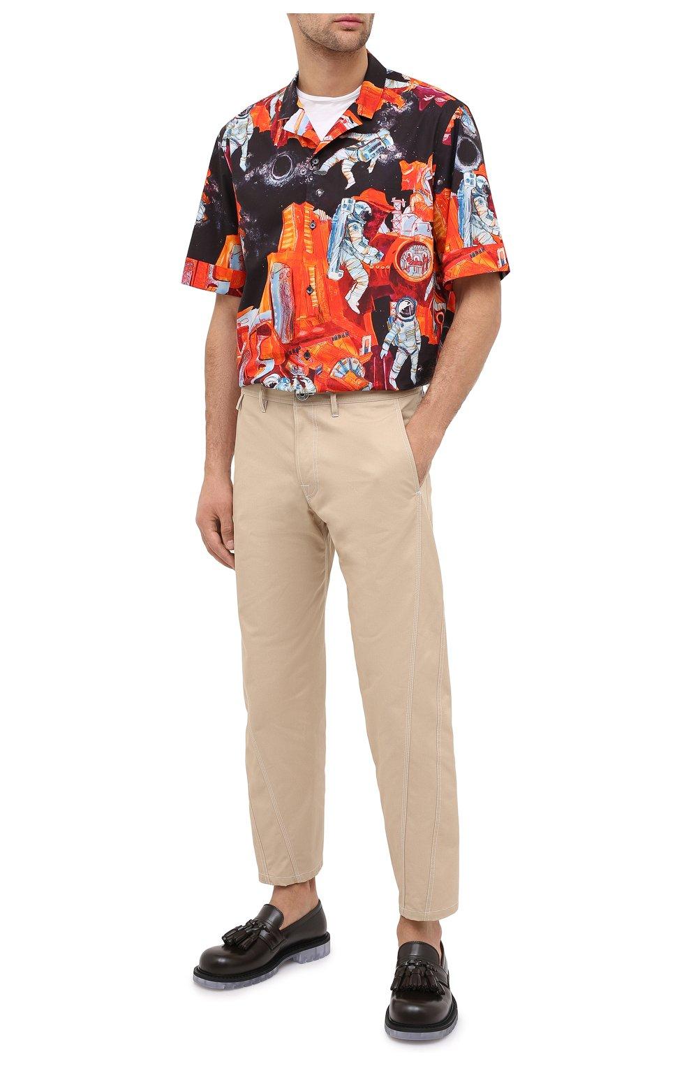 Мужские хлопковые брюки LANVIN бежевого цвета, арт. RM-TR0061-4468-A20 | Фото 2