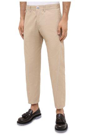 Мужские хлопковые брюки LANVIN бежевого цвета, арт. RM-TR0061-4468-A20 | Фото 3