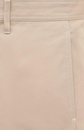 Мужские хлопковые брюки LANVIN бежевого цвета, арт. RM-TR0061-4468-A20 | Фото 5