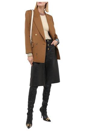 Женский пуловер из шерсти и вискозы LANVIN бежевого цвета, арт. RW-T0621M-MA05-A20   Фото 2