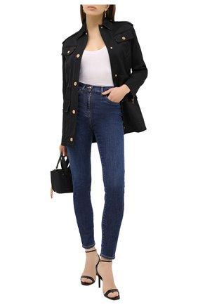 Женские джинсы VERSACE синего цвета, арт. A84996/A236475 | Фото 2