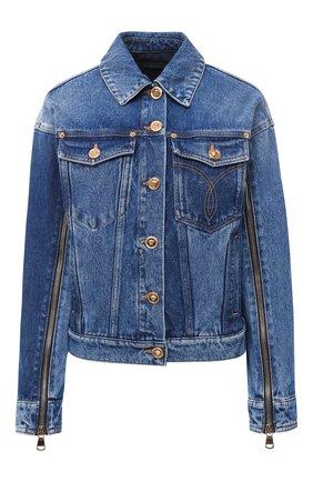 Женская джинсовая куртка VERSACE синего цвета, арт. A87227/A235957 | Фото 1