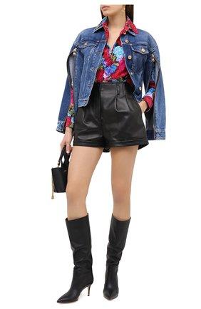 Женская джинсовая куртка VERSACE синего цвета, арт. A87227/A235957 | Фото 2