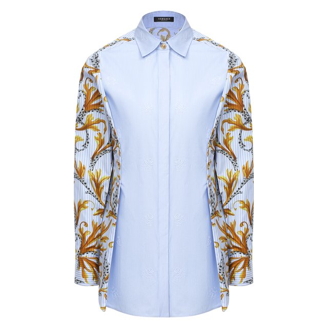 Хлопковая рубашка Versace