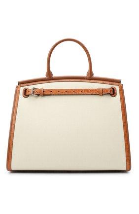 Женская сумка rl 50 large RALPH LAUREN кремвого цвета, арт. 435818341 | Фото 1