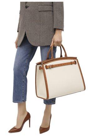 Женская сумка rl 50 large RALPH LAUREN кремвого цвета, арт. 435818341 | Фото 2
