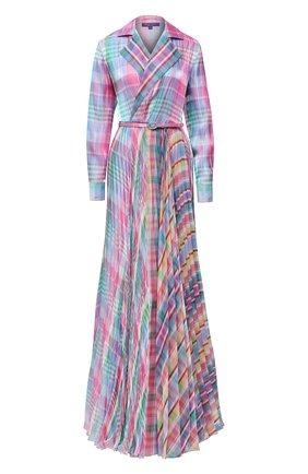 Женское платье с поясом RALPH LAUREN разноцветного цвета, арт. 290799299 | Фото 1