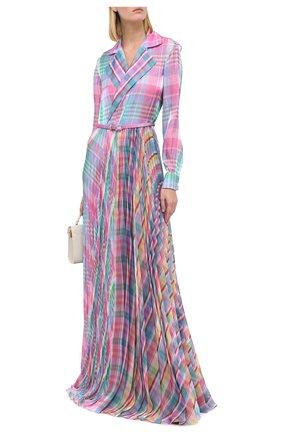 Женское платье с поясом RALPH LAUREN разноцветного цвета, арт. 290799299 | Фото 2