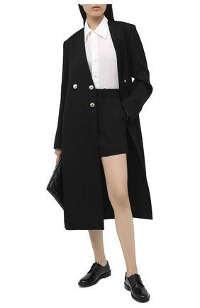 Женская кожаные дерби army SAINT LAURENT черного цвета, арт. 632420/0D500   Фото 2