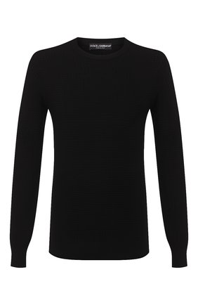Мужской шелковый джемпер DOLCE & GABBANA черного цвета, арт. GXA63T/JASNC | Фото 1