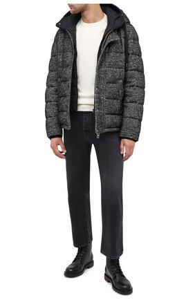 Мужская пуховая куртка DOLCE & GABBANA серого цвета, арт. G90U4T/FM3CZ | Фото 2