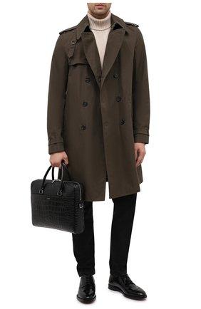 Мужская кожаная сумка для ноутбука duffle SAINT LAURENT черного цвета, арт. 625449/DZE0E | Фото 2