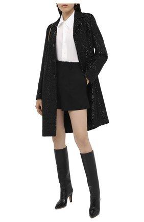Женское пальто из шерсти и вискозы SAINT LAURENT черного цвета, арт. 626872/Y3B82 | Фото 2