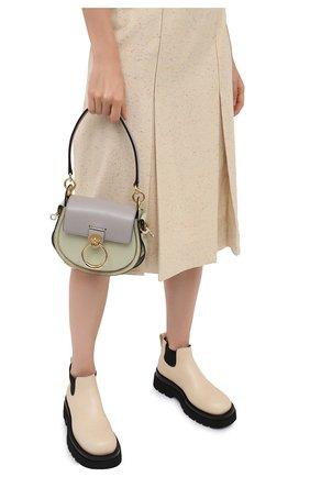 Женская сумка tess small CHLOÉ серого цвета, арт. CHC20AS153D04   Фото 2