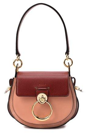 Женская сумка tess small CHLOÉ коричневого цвета, арт. CHC20AS153D04   Фото 1