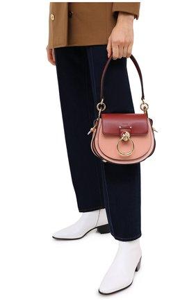 Женская сумка tess small CHLOÉ коричневого цвета, арт. CHC20AS153D04   Фото 2