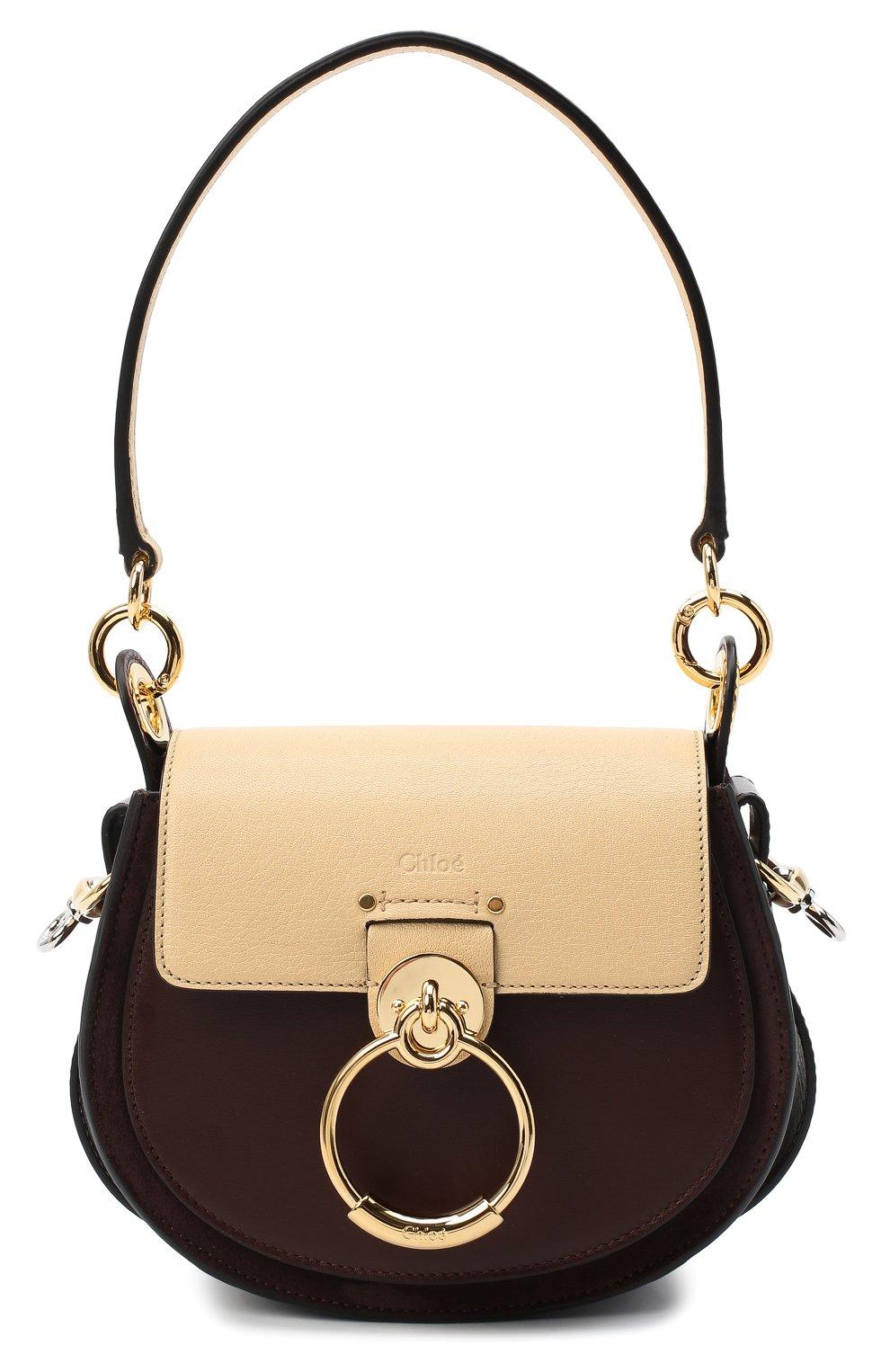 Женская сумка tess small CHLOÉ бежевого цвета, арт. CHC20AS153D04 | Фото 1