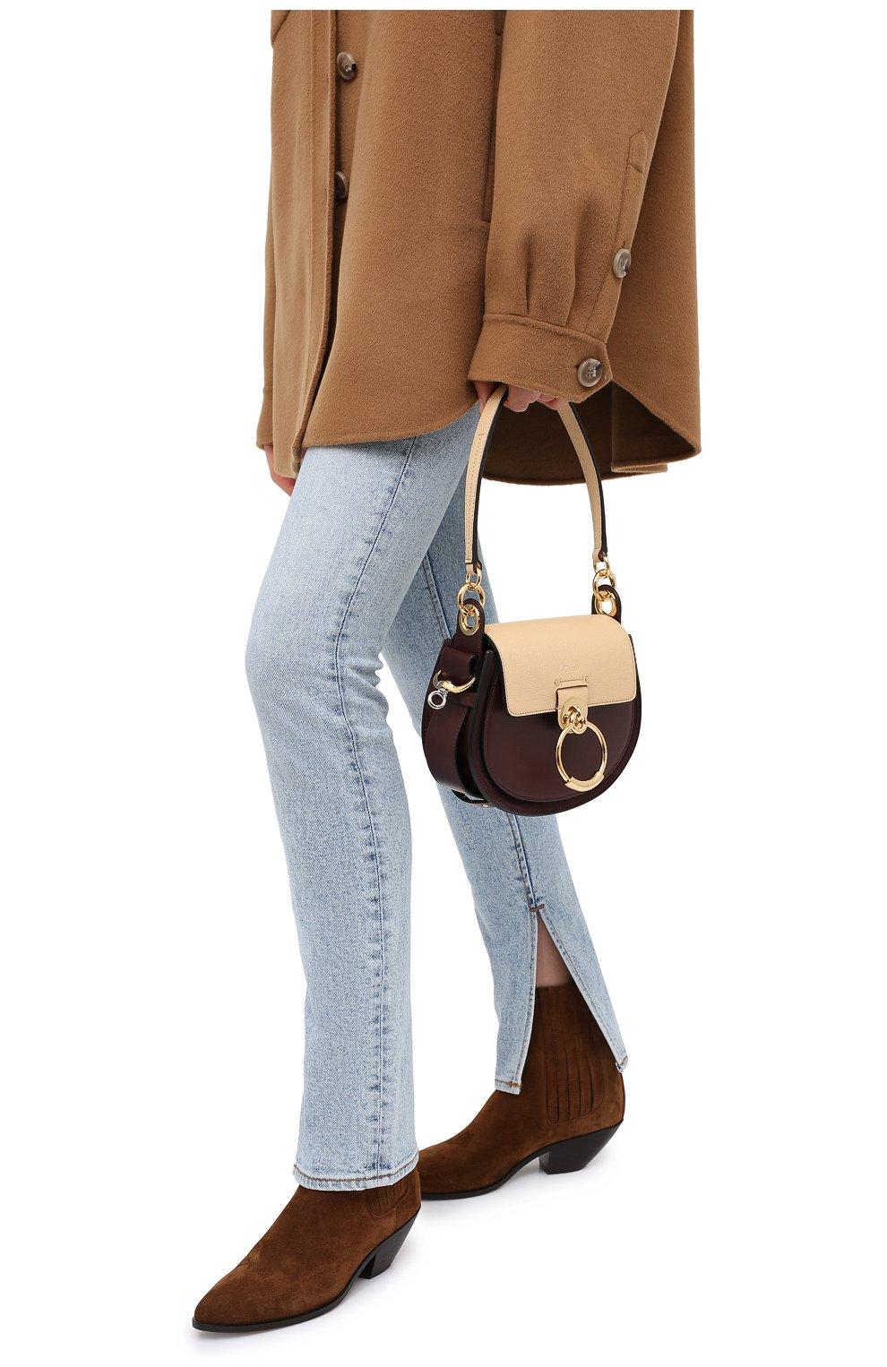 Женская сумка tess small CHLOÉ бежевого цвета, арт. CHC20AS153D04 | Фото 2