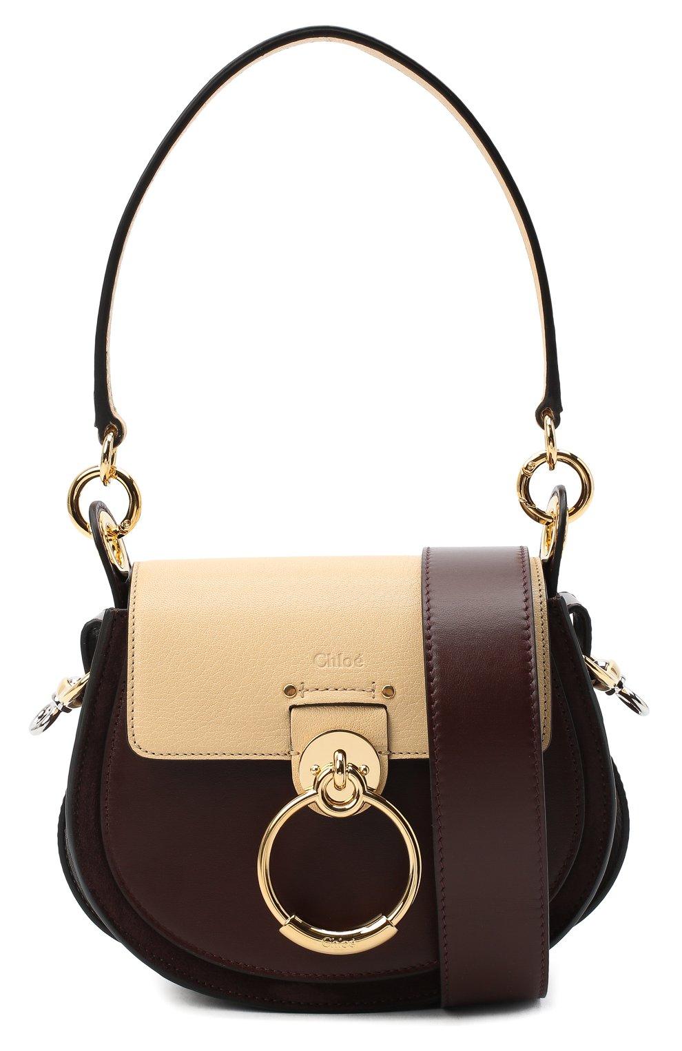 Женская сумка tess small CHLOÉ бежевого цвета, арт. CHC20AS153D04 | Фото 6