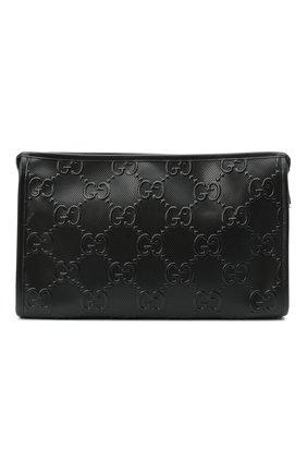 Мужской кожаный несессер GUCCI черного цвета, арт. 625568/1W3AN | Фото 1
