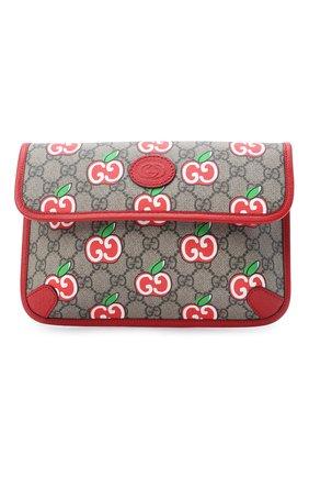Женская поясная сумка pomme GUCCI красного цвета, арт. 625233/2EVBG | Фото 1