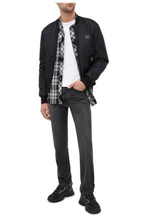 Мужские комбинированные кроссовки KENZO черного цвета, арт. FA65SN300L69 | Фото 2 (Подошва: Массивная; Материал внутренний: Текстиль; Стили: Гранж)