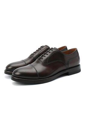Мужские кожаные оксфорды W.GIBBS темно-коричневого цвета, арт. 0220009/2302 | Фото 1