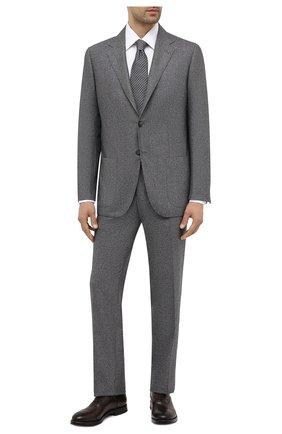 Мужские кожаные оксфорды W.GIBBS темно-коричневого цвета, арт. 0220009/2302 | Фото 2