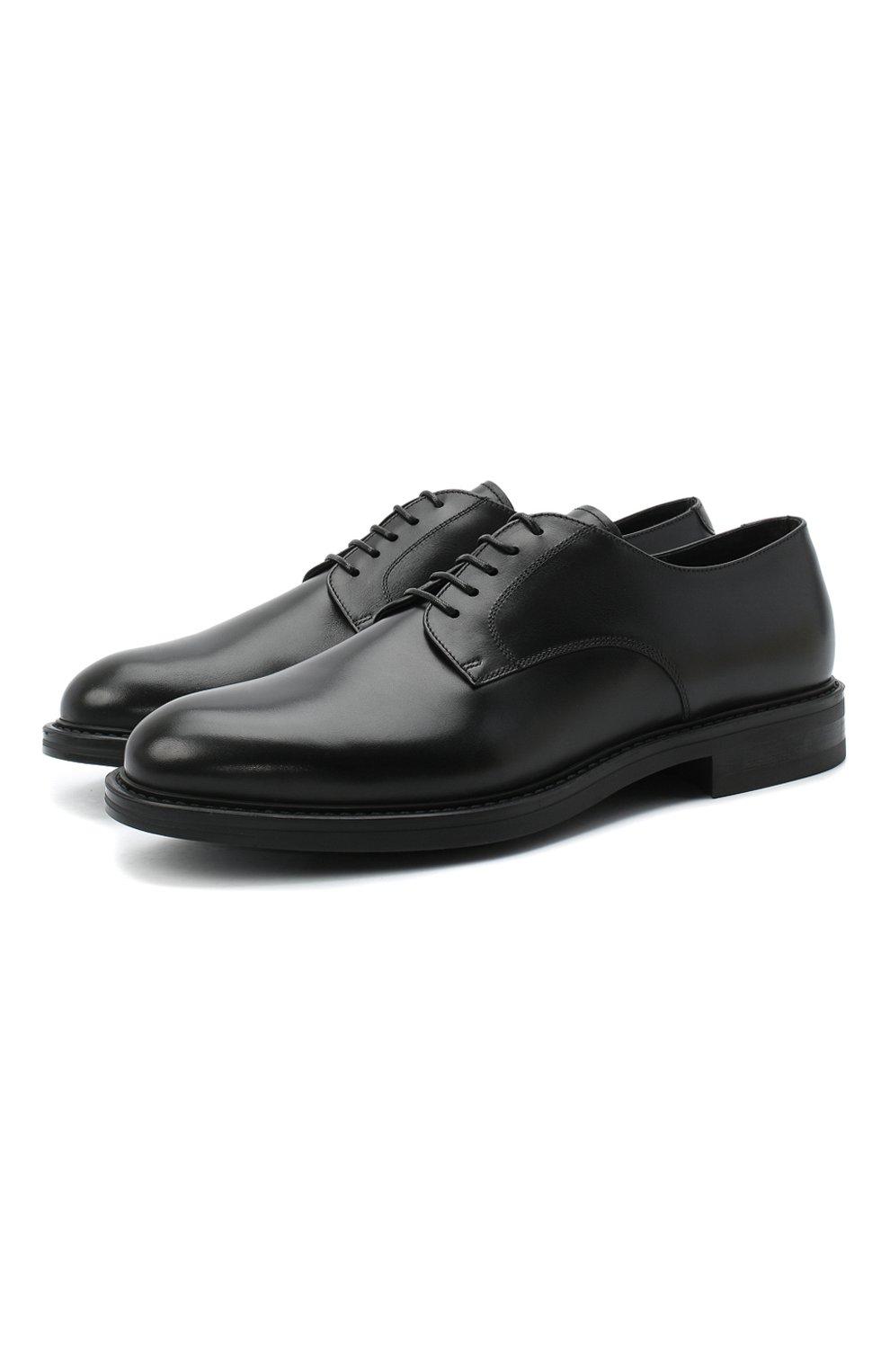 Мужские кожаные дерби W.GIBBS черного цвета, арт. 3169008/0215 | Фото 1 (Стили: Классический)