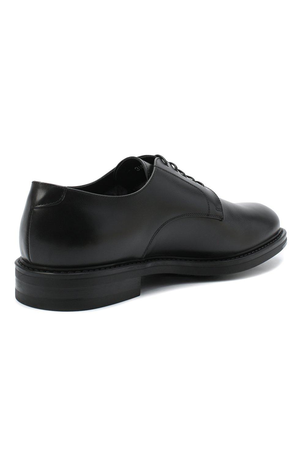 Мужские кожаные дерби W.GIBBS черного цвета, арт. 3169008/0215 | Фото 4 (Стили: Классический)