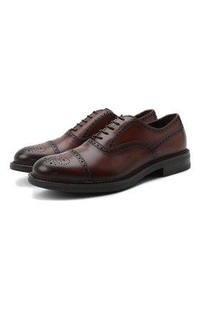 Мужские кожаные оксфорды W.GIBBS коричневого цвета, арт. 3169010/2300 | Фото 1