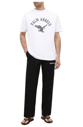 Мужские текстильные шлепанцы GUCCI черного цвета, арт. 630307/H9020 | Фото 2