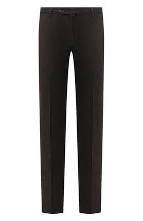 Мужские брюки из шерсти и кашемира LORO PIANA темно-коричневого цвета, арт. FAI3433 | Фото 1