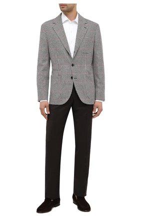 Мужской шерстяные брюки LORO PIANA темно-коричневого цвета, арт. FAI3433 | Фото 2