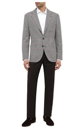 Мужские брюки из шерсти и кашемира LORO PIANA темно-коричневого цвета, арт. FAI3433 | Фото 2
