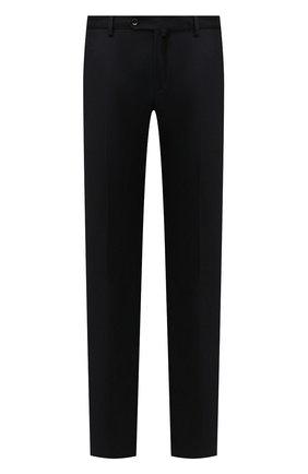 Мужские брюки из шерсти и кашемира LORO PIANA темно-синего цвета, арт. FAI3433 | Фото 1 (Длина (брюки, джинсы): Стандартные; Материал внешний: Шерсть; Случай: Формальный; Материал подклада: Синтетический материал; Стили: Классический)