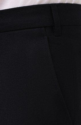 Мужские брюки из шерсти и кашемира LORO PIANA темно-синего цвета, арт. FAI3433 | Фото 6 (Материал внешний: Шерсть; Длина (брюки, джинсы): Стандартные; Стили: Классический; Материал подклада: Синтетический материал; Случай: Формальный)