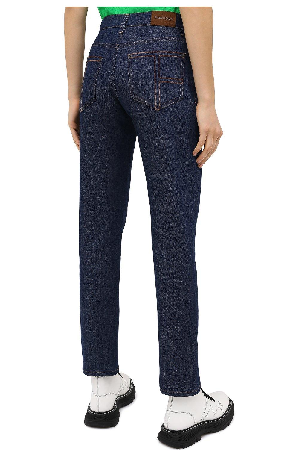 Женские джинсы TOM FORD синего цвета, арт. PAD057-DEX106   Фото 5