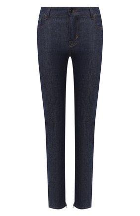 Женские джинсы TOM FORD синего цвета, арт. PAD056-DEX106 | Фото 1 (Длина (брюки, джинсы): Стандартные; Материал внешний: Хлопок; Силуэт Ж (брюки и джинсы): Узкие; Кросс-КТ: Деним; Стили: Кэжуэл; Детали: Потертости)