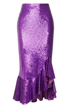 Женская юбка с пайетками TOM FORD фуксия цвета, арт. GCJ270-SDE263 | Фото 1
