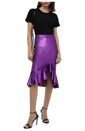 Женская юбка с пайетками TOM FORD фуксия цвета, арт. GCJ270-SDE263 | Фото 2