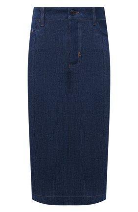 Женская джинсовая юбка TOM FORD синего цвета, арт. GCD042-DEX106 | Фото 1 (Длина Ж (юбки, платья, шорты): До колена; Материал внешний: Хлопок; Женское Кросс-КТ: Юбка-одежда, Юбка-карандаш; Стили: Кэжуэл; Кросс-КТ: Деним)