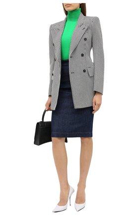 Женская джинсовая юбка TOM FORD синего цвета, арт. GCD042-DEX106 | Фото 2 (Длина Ж (юбки, платья, шорты): До колена; Материал внешний: Хлопок; Женское Кросс-КТ: Юбка-одежда, Юбка-карандаш; Стили: Кэжуэл; Кросс-КТ: Деним)