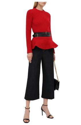Женский шерстяной свитер ALEXANDER MCQUEEN красного цвета, арт. 633685/Q1AQV | Фото 2