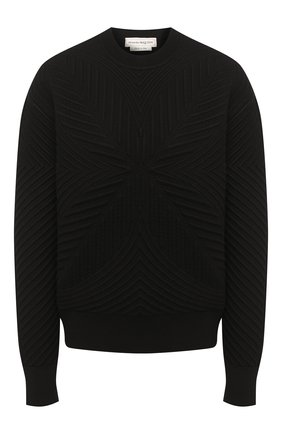 Женская свитшот из шерсти и вискозы ALEXANDER MCQUEEN черного цвета, арт. 641894/Q1ARM | Фото 1