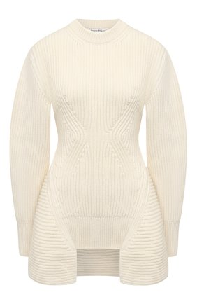Женский свитер из шерсти и кашемира ALEXANDER MCQUEEN белого цвета, арт. 633692/Q1AQX | Фото 1